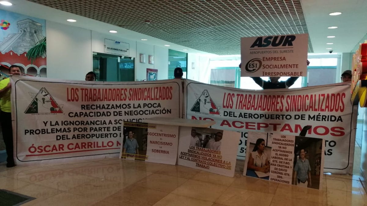 protesta aeropuerto