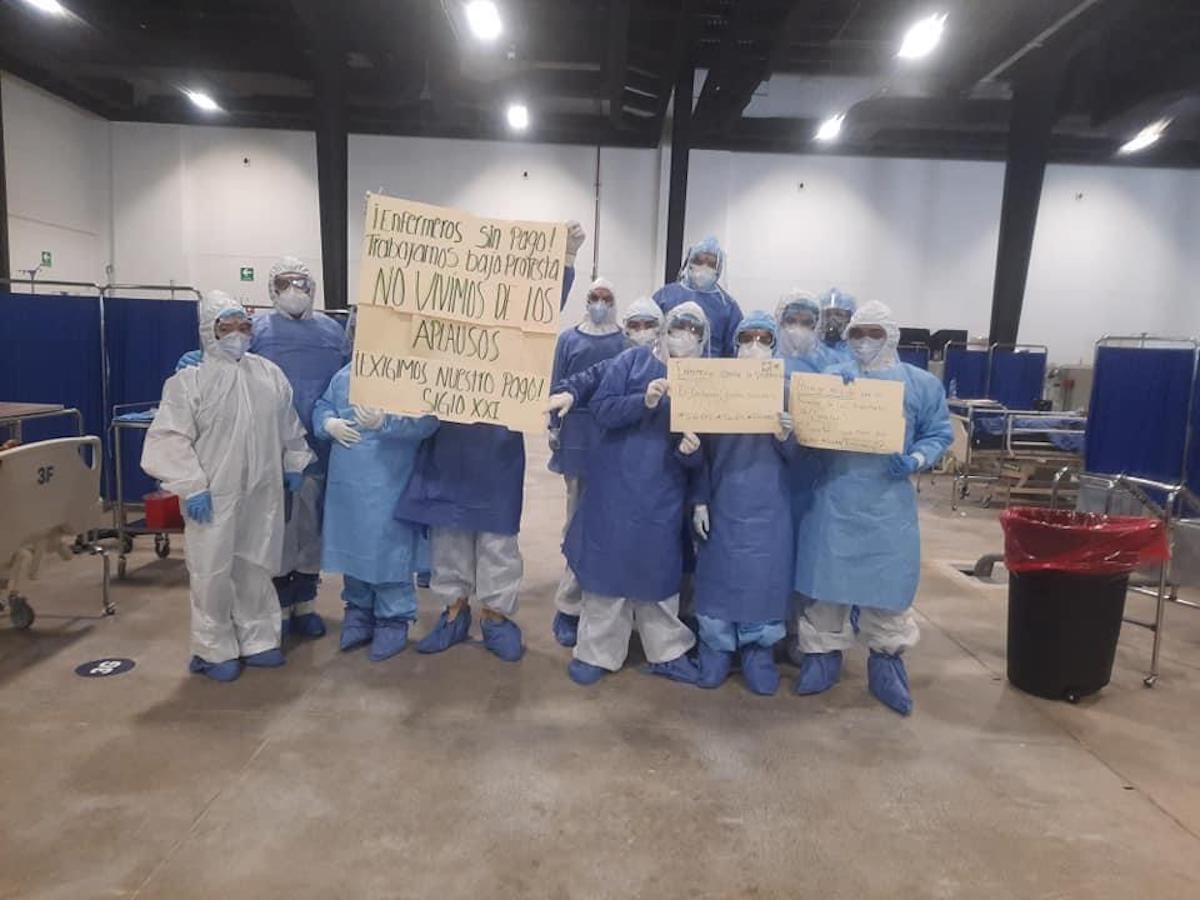 enfermeros protesta
