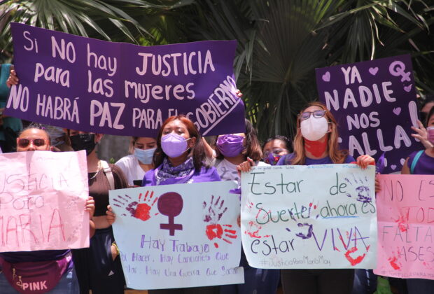 protesta mujer feminicidio maria 2