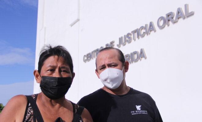 María Ravelo e hijo
